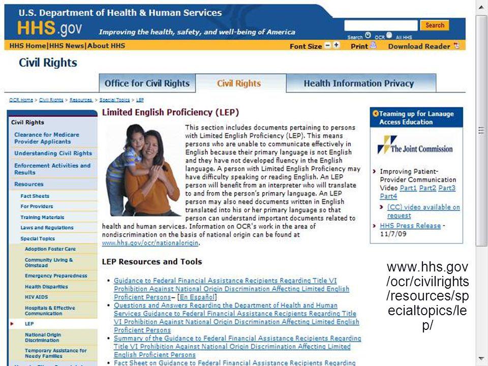 24 www.hhs.gov /ocr/civilrights /resources/sp ecialtopics/le p/