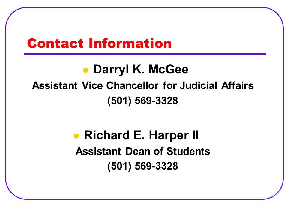 Contact Information Darryl K.