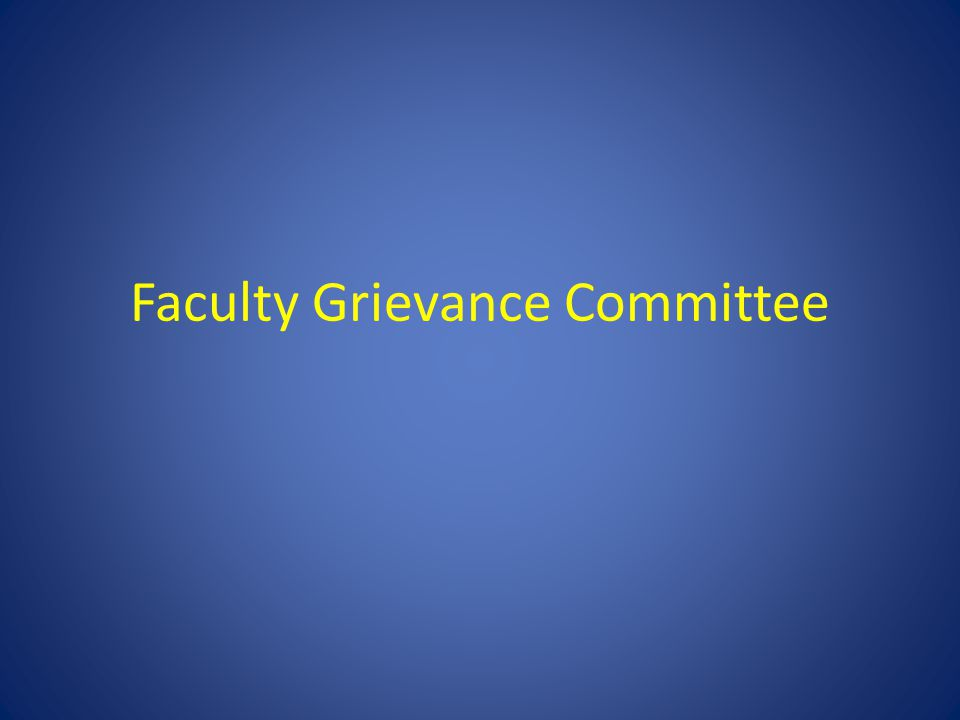 Faculty Grievance Committee