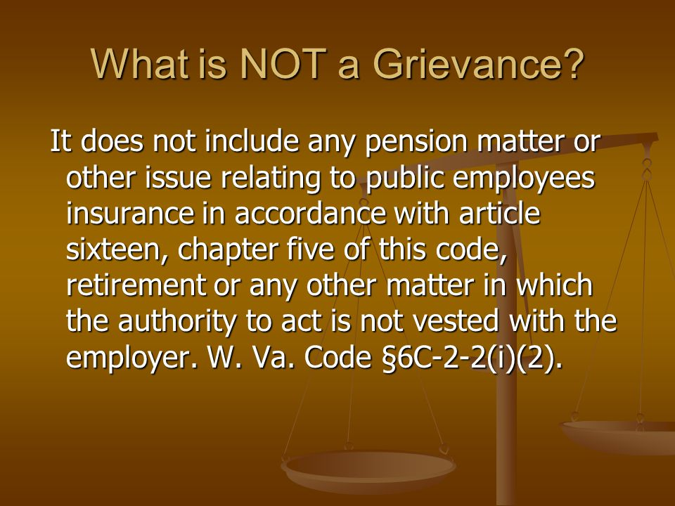 Who Can File a Grievance.