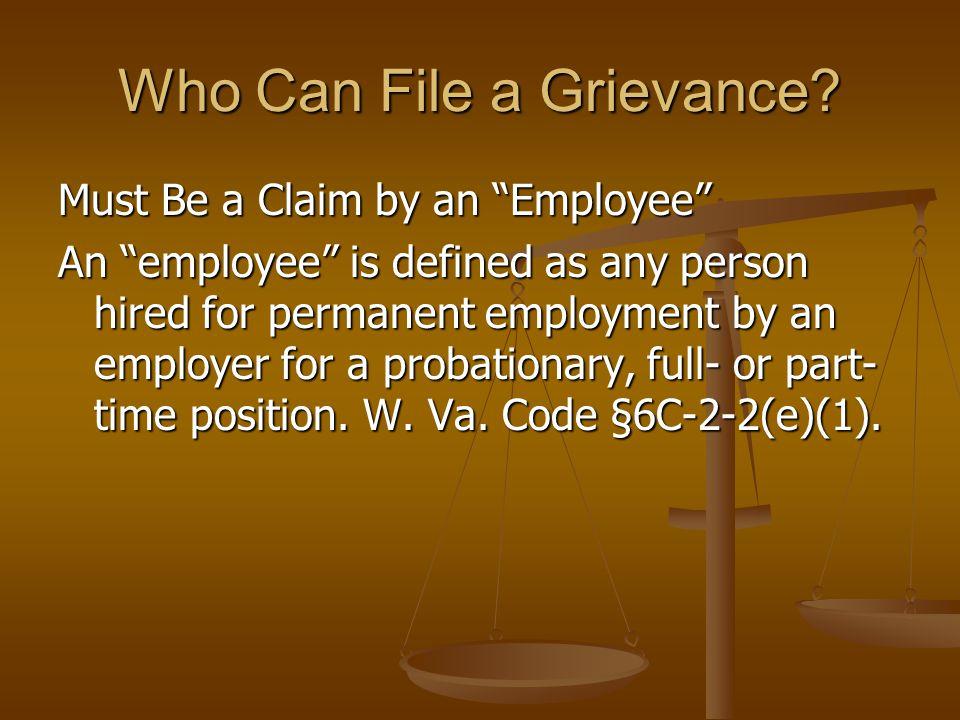 OVERVIEW OF THE GRIEVANCE PROCEDURE UNDER WEST VIRGINIA CODE §6C-2-1, et. seq.