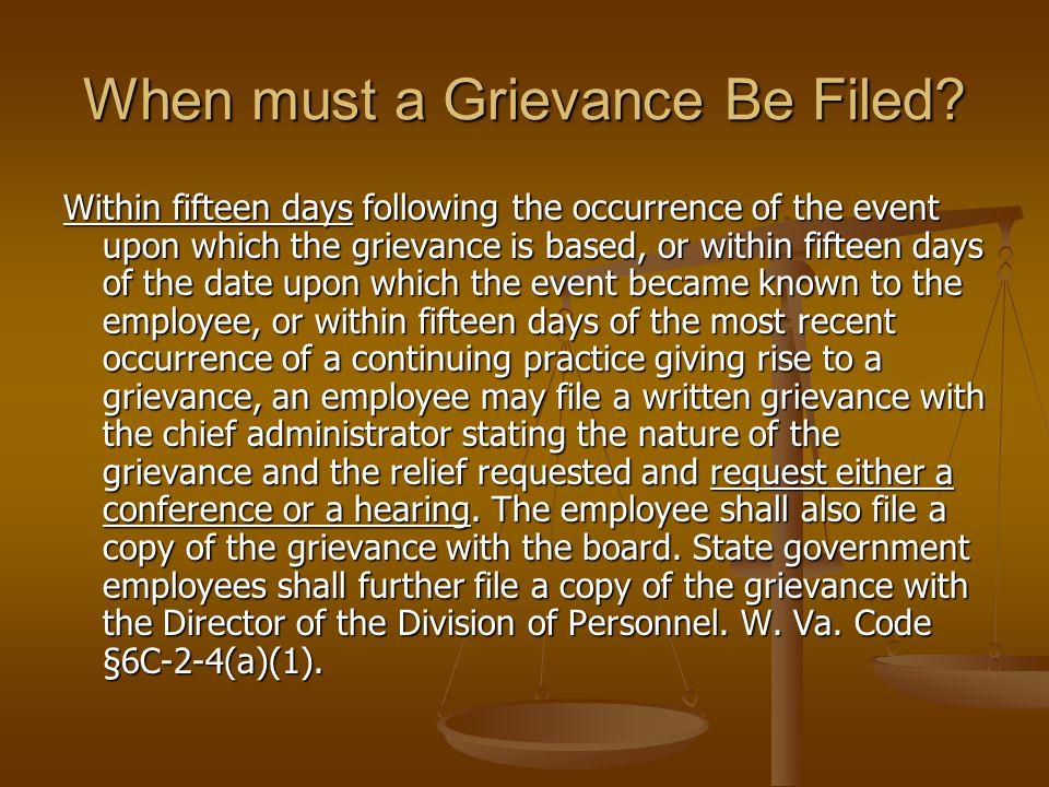 Grievance Form See Exhibit C