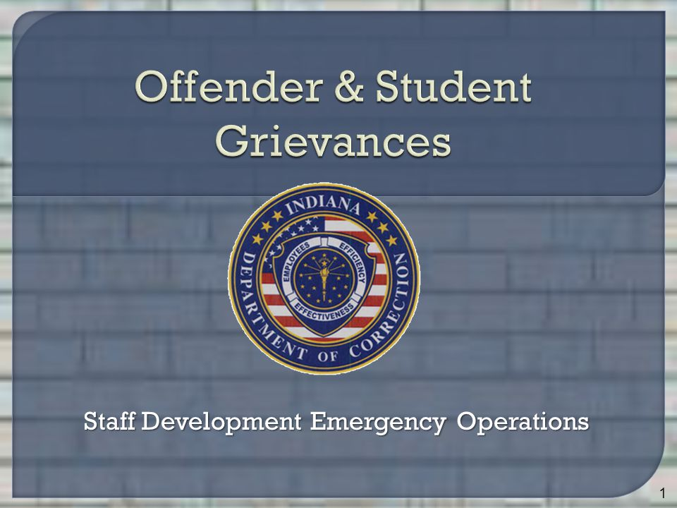 Staff Development Emergency Operations 1