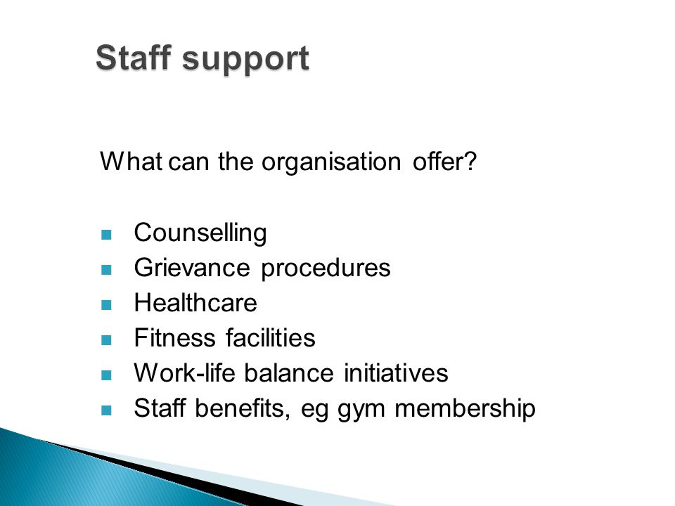 What can the organisation offer.