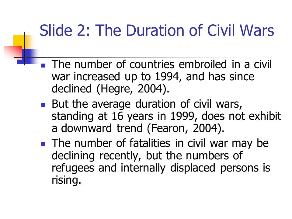 Slide 3: Causes of Civil War Cold war and super-power rivalry.