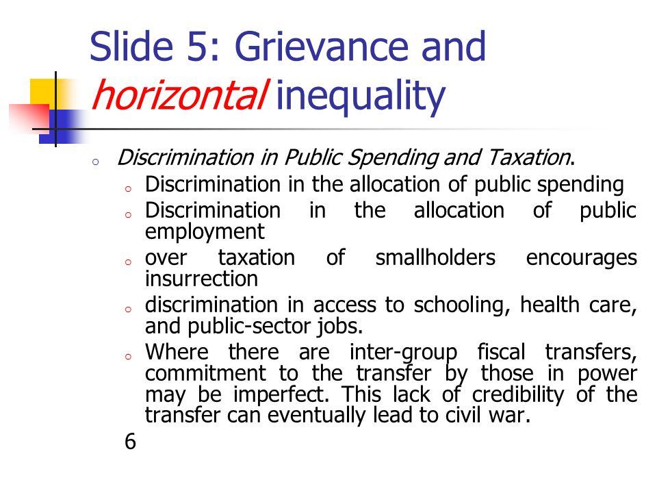 Slide 6: Grievance (2) High Asset Inequality.