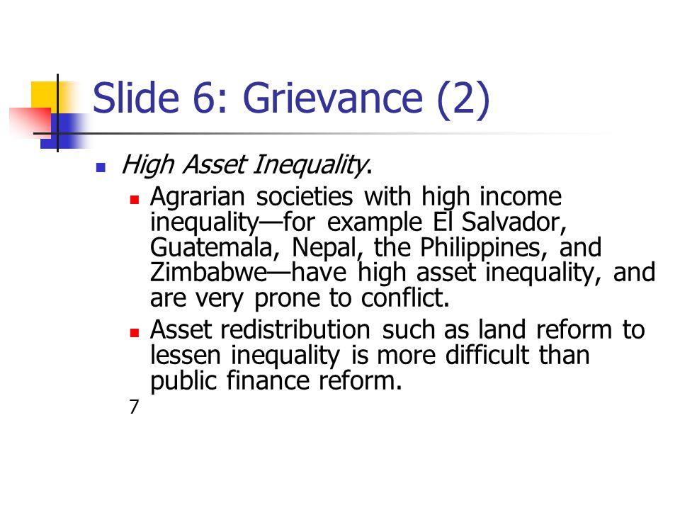 Slide 7: Grievance (3) Economic Mismanagement and Recession.