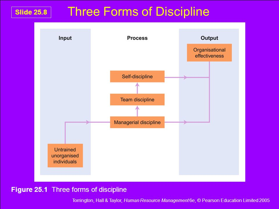 Torrington, Hall & Taylor, Human Resource Management 6e, © Pearson Education Limited 2005 Slide 25.29 The Nature of Grievance & Disciplinary Interviews Provide information Explain work requirements Can deliver rebukes Use a problem solving approach Involve sympathy Requires use of perception Requires empathy