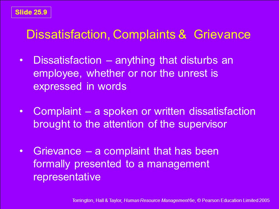 Torrington, Hall & Taylor, Human Resource Management 6e, © Pearson Education Limited 2005 Slide 25.20 Outline Disciplinary Procedure (1 of 2) Figure 25.4 Outline disciplinary procedure