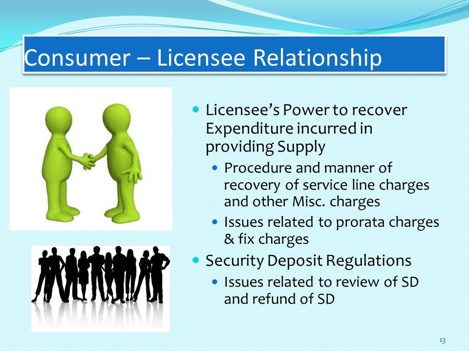 Consumer – Licensee Relationship Licensee's Power to recover Expenditure incurred in providing Supply Procedure and manner of recovery of service line charges and other Misc.