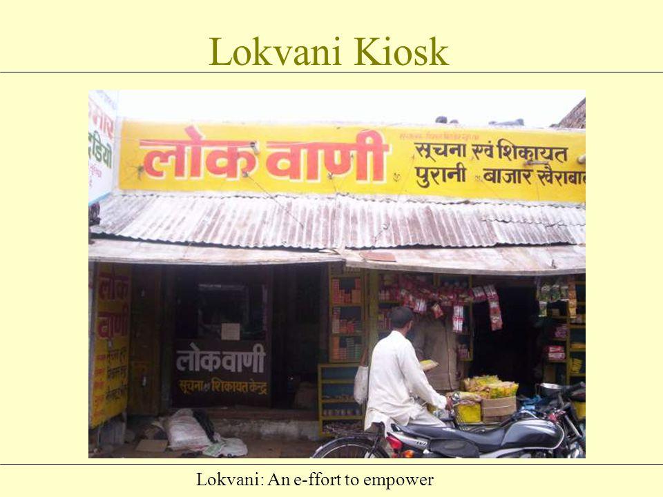Lokvani: An e-ffort to empower Third Party, Lokvani Kiosk Lokvani Server DM Concerned Department Lokvani - Process
