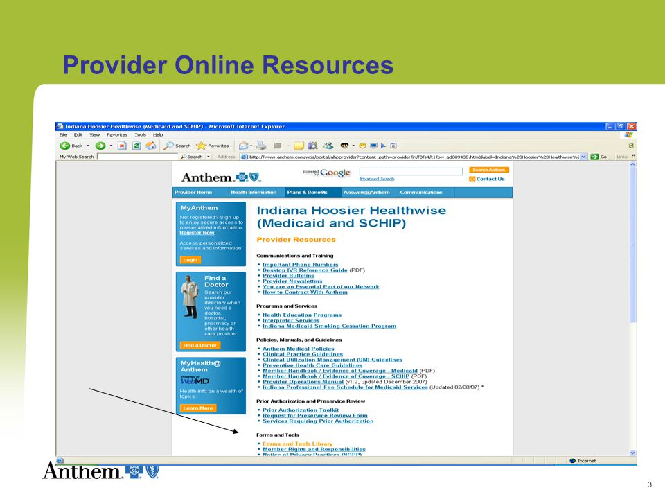 3 Provider Online Resources