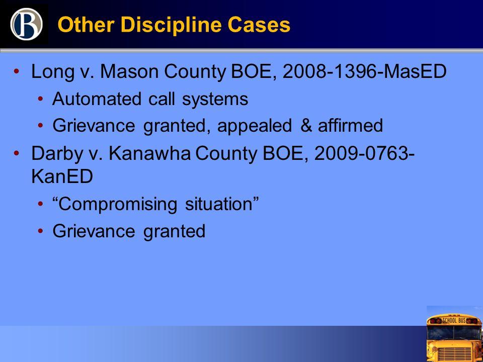 Other Discipline Cases Long v.