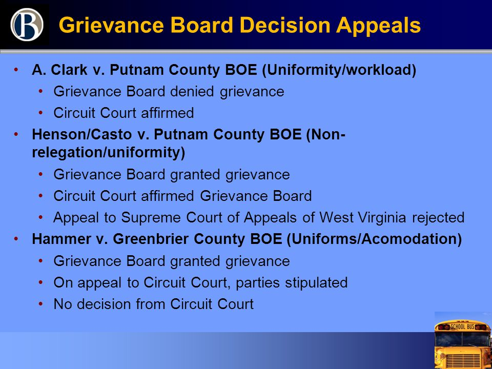Grievance Board Decision Appeals A. Clark v.
