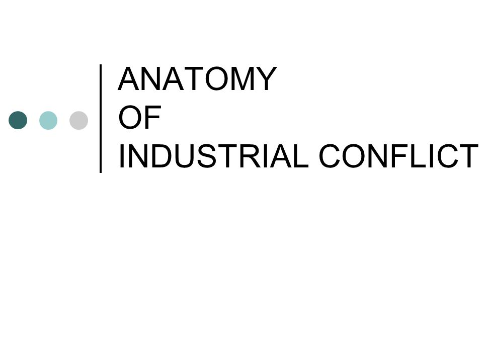 ANATOMY OF INDUSTRIAL CONFLICT