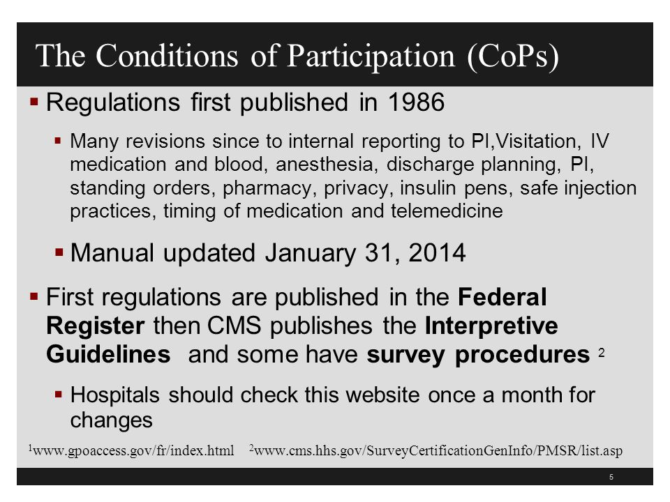 66 RI.01.07.01 Complaints  EP6 Hospital acknowledges receipt of a complaint that cannot be resolved immediately  Hospital must notify the patient of follow up to the complaint  EP7 Must provide the patient with the phone number and address to file the complaint with the relevant state authority  Same as CMS requirement  EP10 The patient is allowed to voice complaints and recommend changes freely with out being subject to discrimination, coercion, reprisal, or unreasonable interruption of care