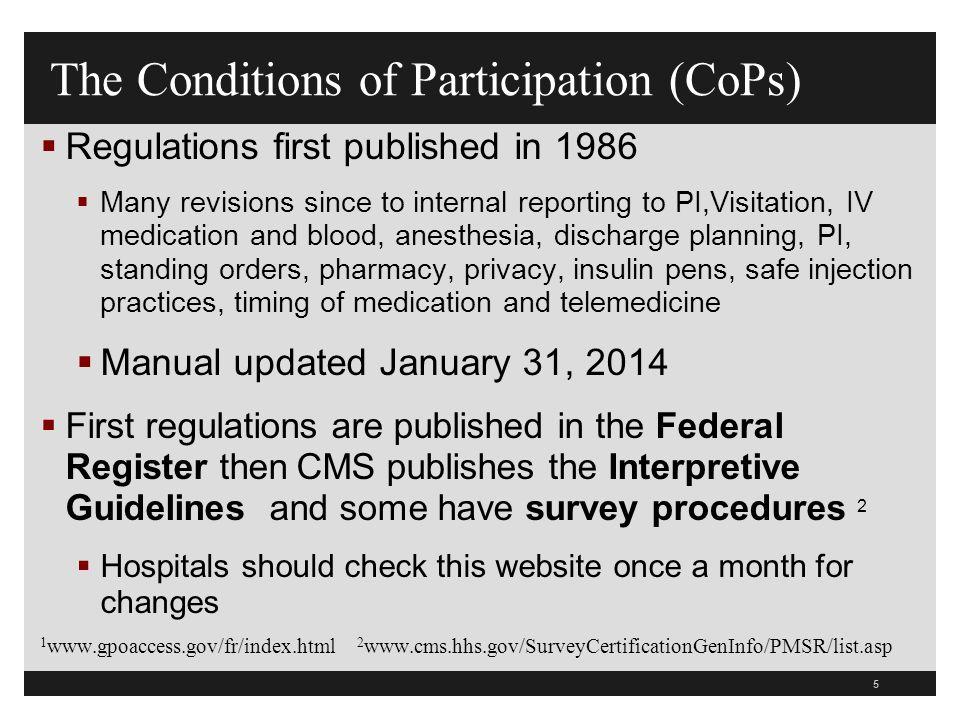 16 New website at www.cms.hhs.gov/manuals/downloads/som107_Appendixtoc.pdf