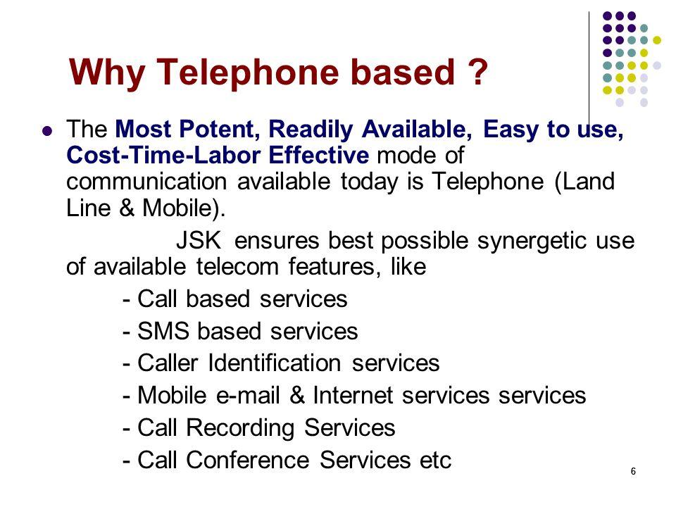 66 Why Telephone based .