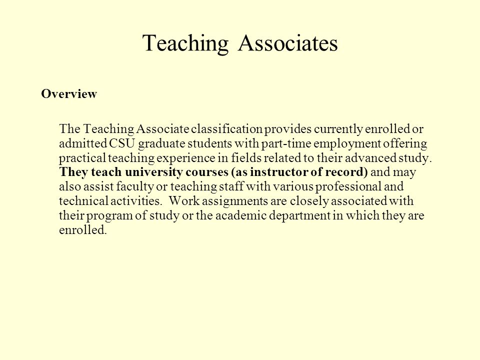 ISAs - continued Overview (continued) ISAs work part-time (0 to 20 hours per week) during academic periods and may work full time during breaks.