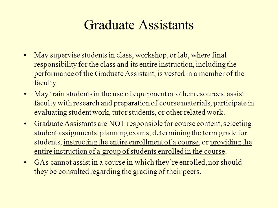 Typical Activities of Nonexempt GAs Assisting in student instruction by conducting small discussion groups related to large lecture, television, or web-based courses, etc.