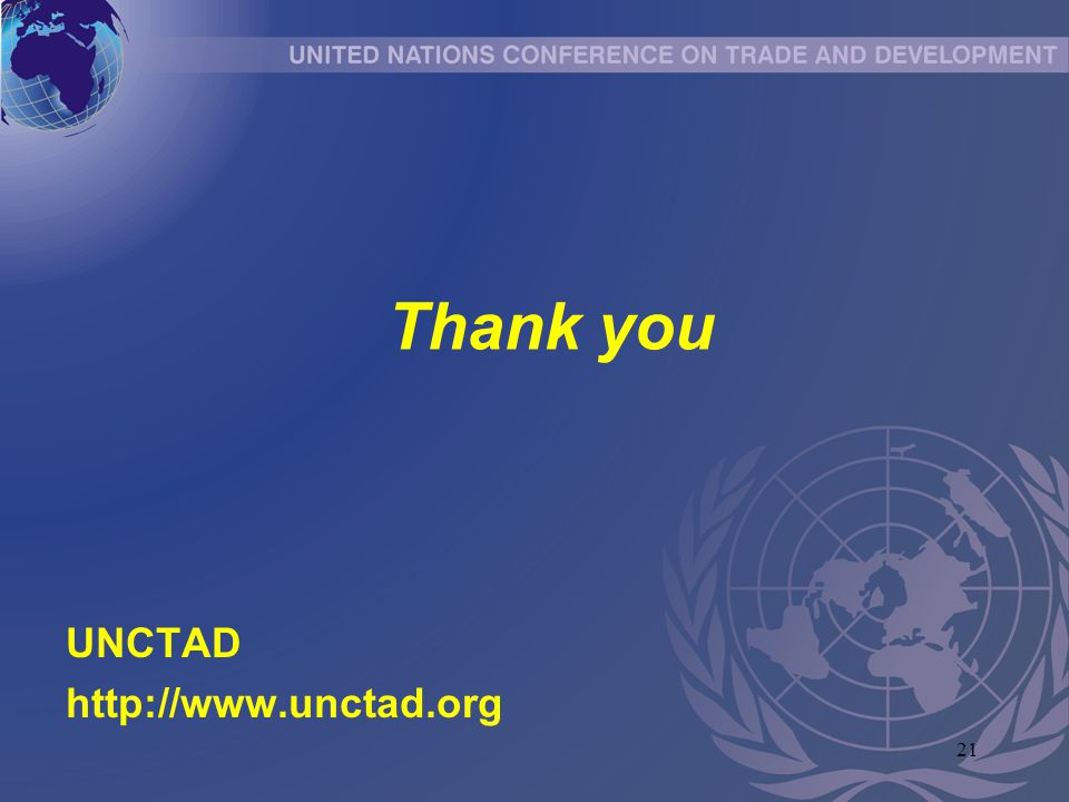 21 Thank you UNCTAD http://www.unctad.org