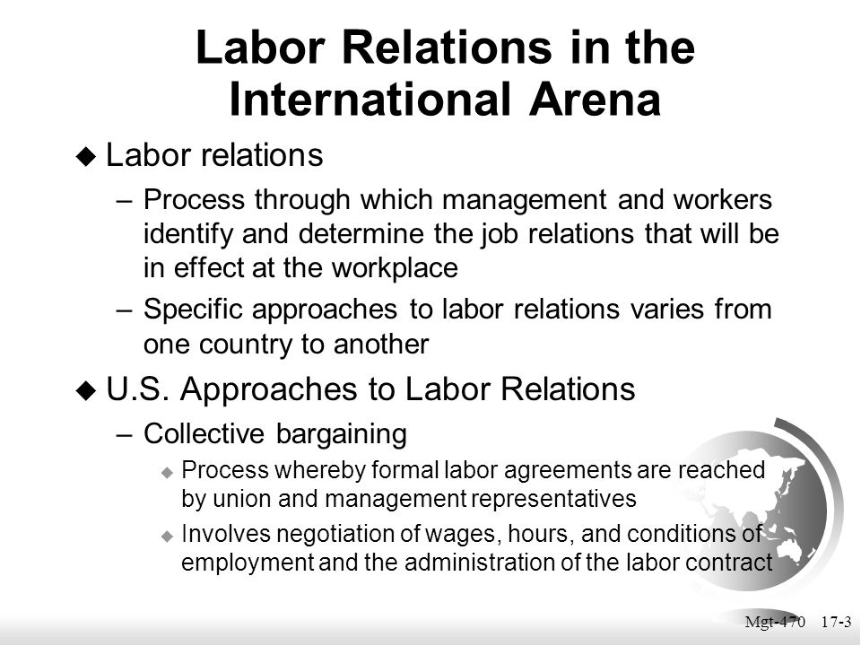 Mgt-470 17-14 Resolving Industrial Conflict  In the U.S.