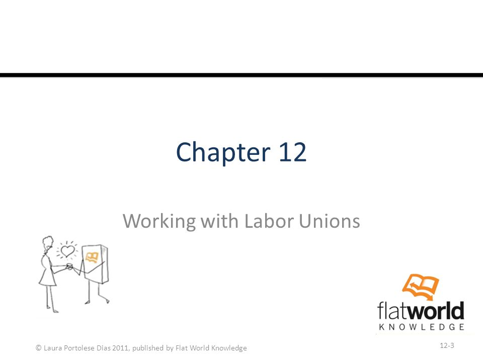 © Laura Portolese Dias 2011, published by Flat World Knowledge Learning Objectives 1.Be able to discuss the history of labor unions.