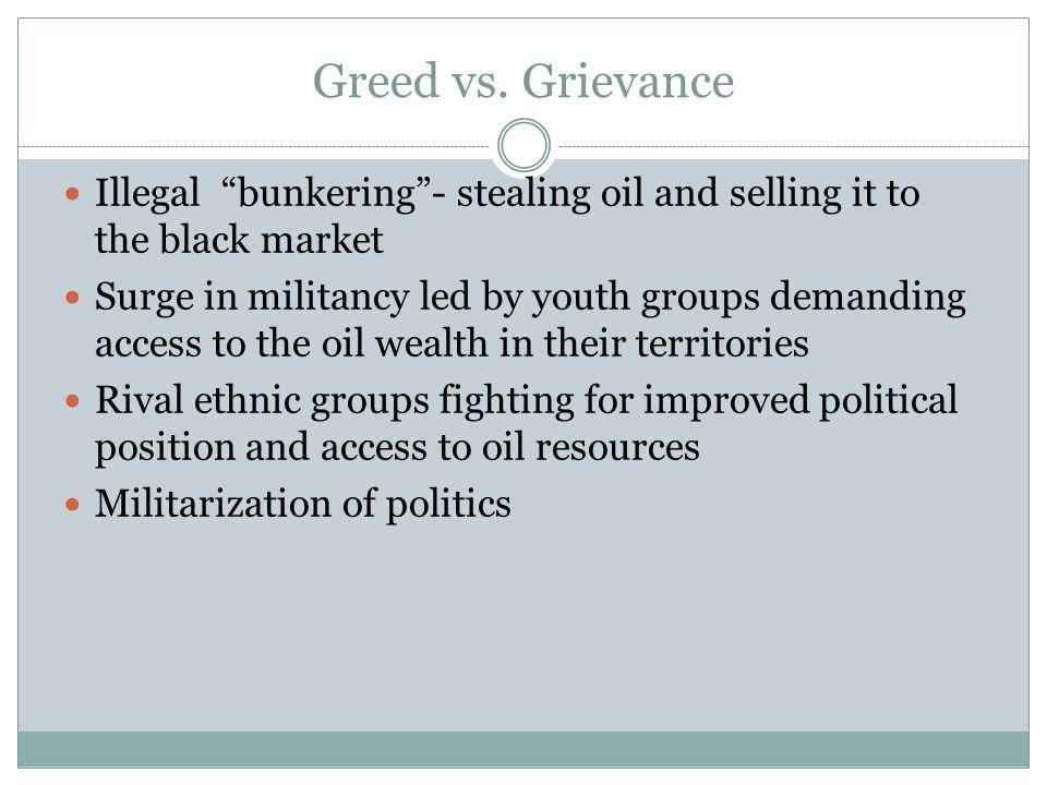 Greed vs.
