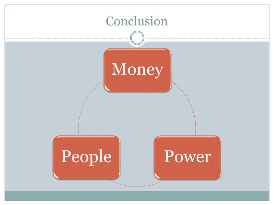 Conclusion MoneyPowerPeople
