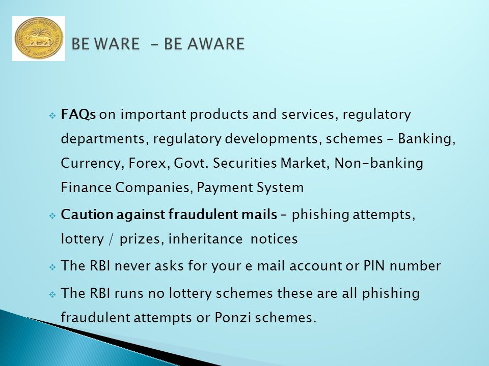  FAQs on important products and services, regulatory departments, regulatory developments, schemes – Banking, Currency, Forex, Govt.