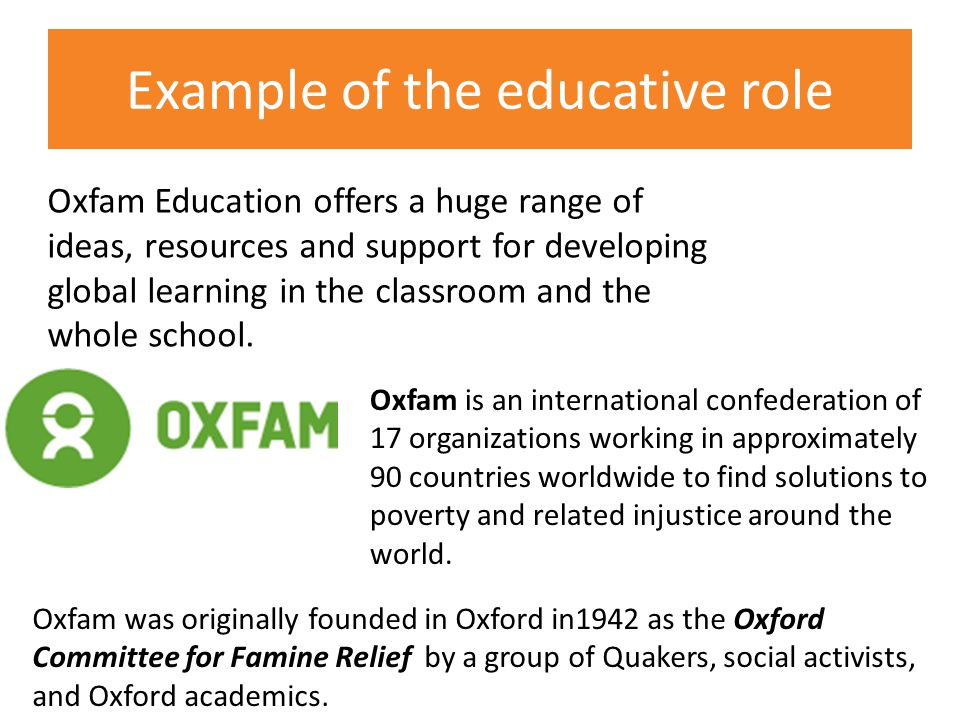 Oxfam Education offers a huge range of ideas, resources and support for developing global learning in the classroom and the whole school.