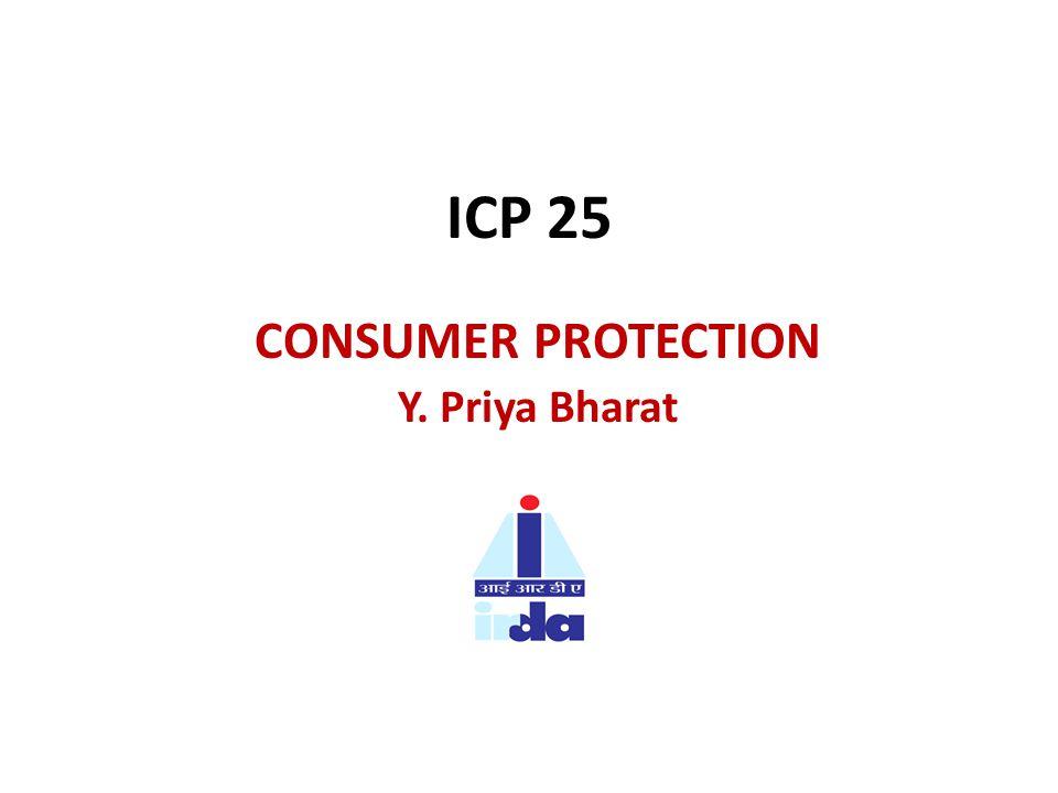 ICP 25 CONSUMER PROTECTION Y. Priya Bharat