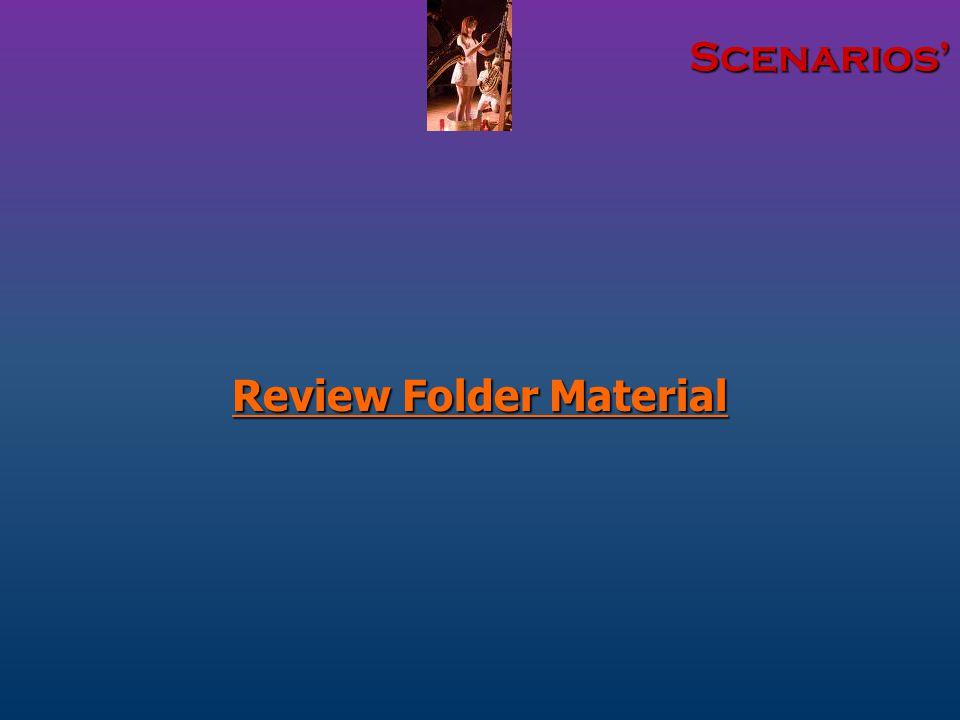 Scenarios' Review Folder Material
