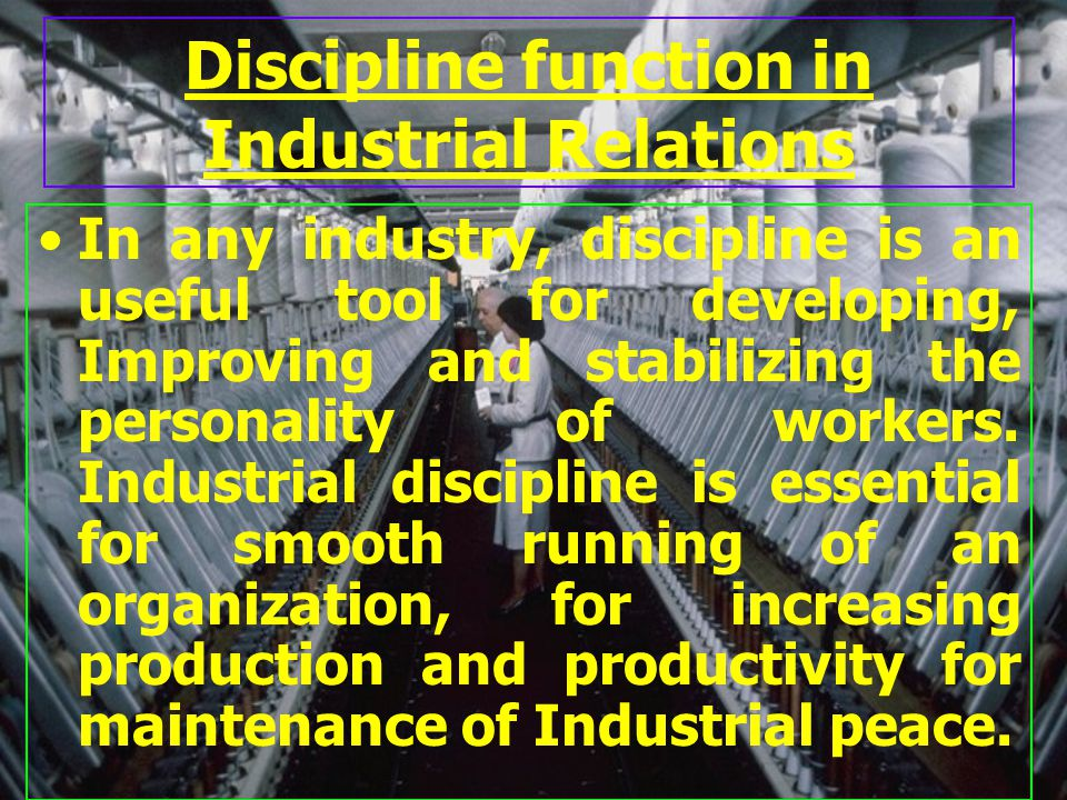 Dictionary meaning of Discipline 1.First it is the training that corrects, moulds, strengthens or perfects individual behaviour.