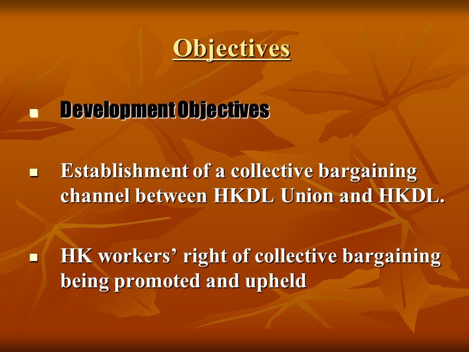 Objectives Immediate Objectives Immediate Objectives Establishment of a union friendly grievance procedure in HKDL Establishment of a union friendly grievance procedure in HKDL