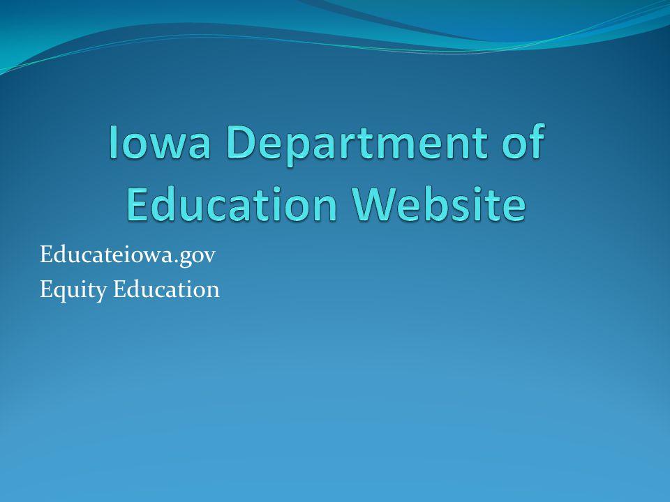 Educateiowa.gov Equity Education