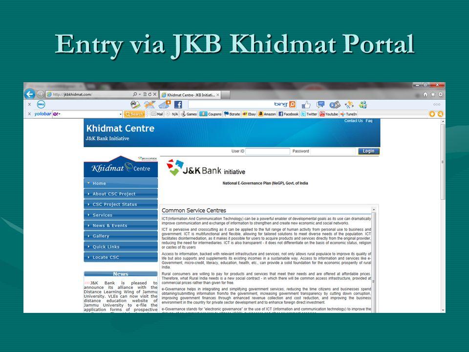 Entry via JKB Khidmat Portal
