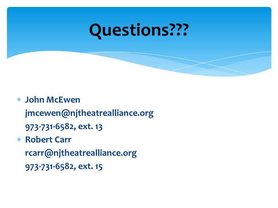  John McEwen jmcewen@njtheatrealliance.org 973-731-6582, ext.