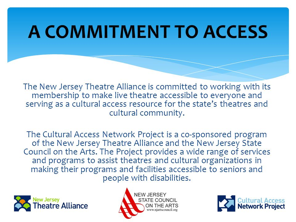 Goal: To ensure that programs can be enjoyed by ALL.