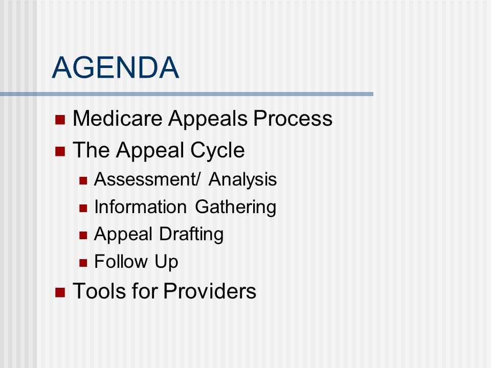 PART D APPEALS PROCESS- OVERVIEW Each drug plan must have an appeals process Including process for expedited requests A coverage determination is first step to get into the appeals process Issued by the drug plan An exception is a type of coverage determination Next steps include Redetermination by the drug plan Reconsideration by the independent review entity (IRE) Administrative law judge (ALJ) hearing Medicare Appeals Council (MAC) review Federal court
