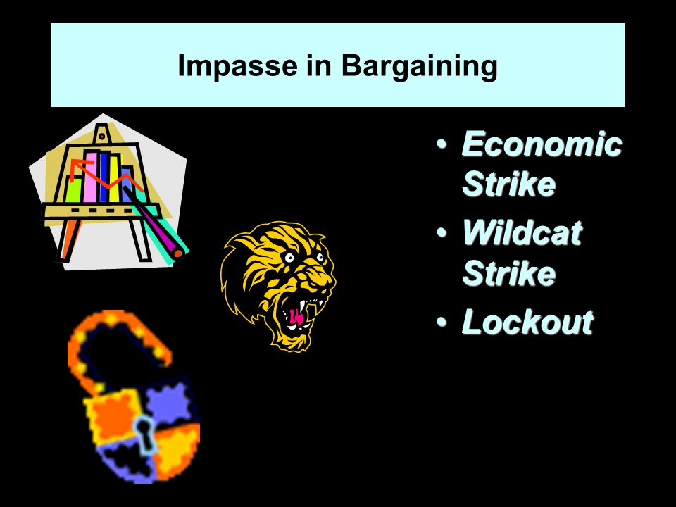 Impasse in Bargaining Economic StrikeEconomic Strike Wildcat StrikeWildcat Strike LockoutLockout