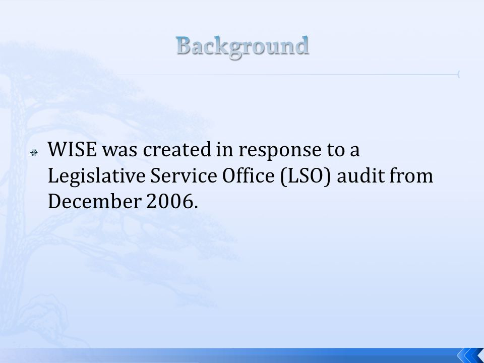  Specifically the audit identified the following: The single requirement for HR training is in W.S.