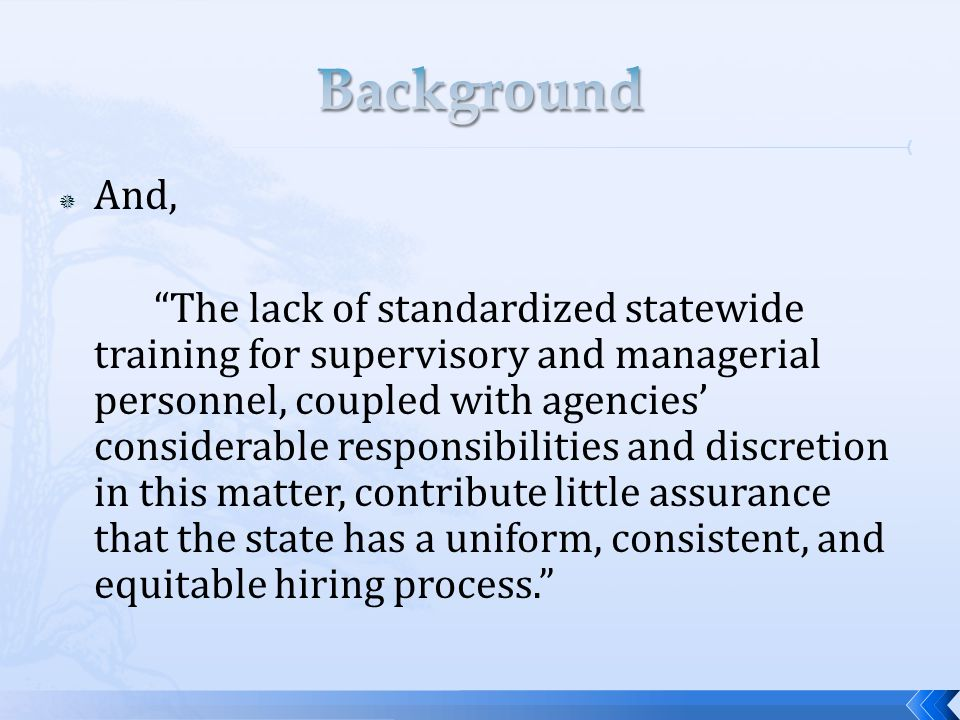  Before Taking Disciplinary Action (cont.)  Determine the appropriate type of discipline based upon the following factors:  What is the impact of the conduct on the agency.