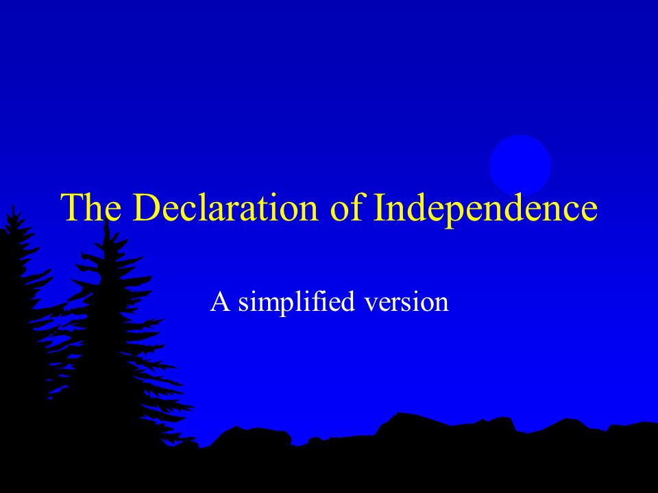 The newly independent states believe that God will protect them in their venture to establish a just government.