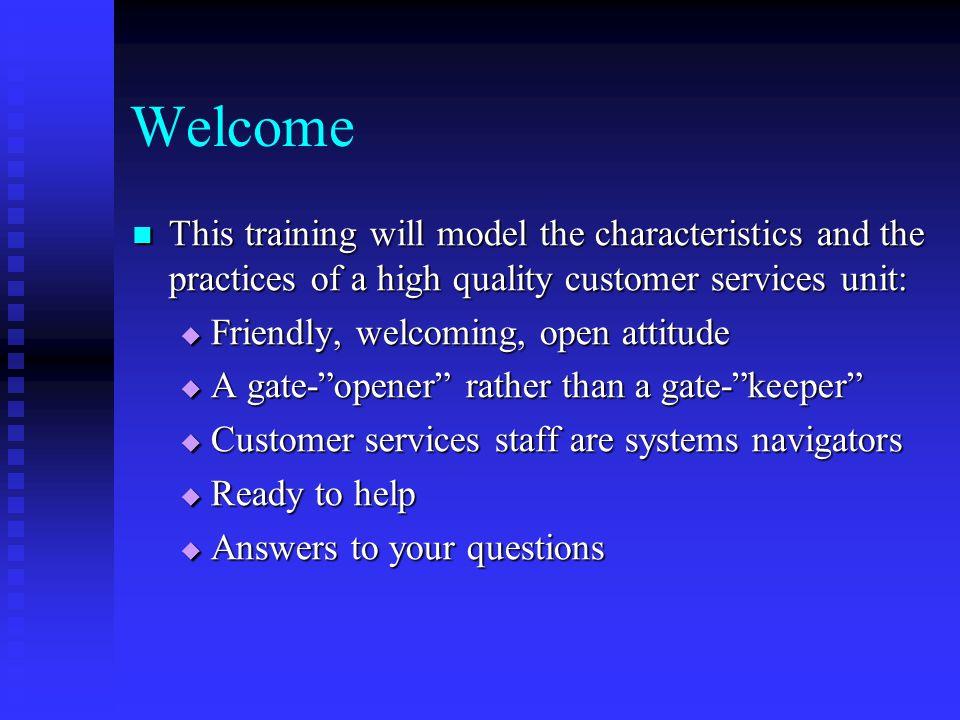 Customer Service At A Glance
