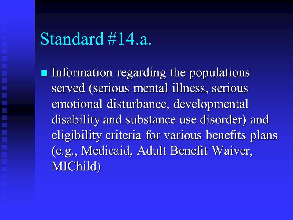 Standard #14.a.