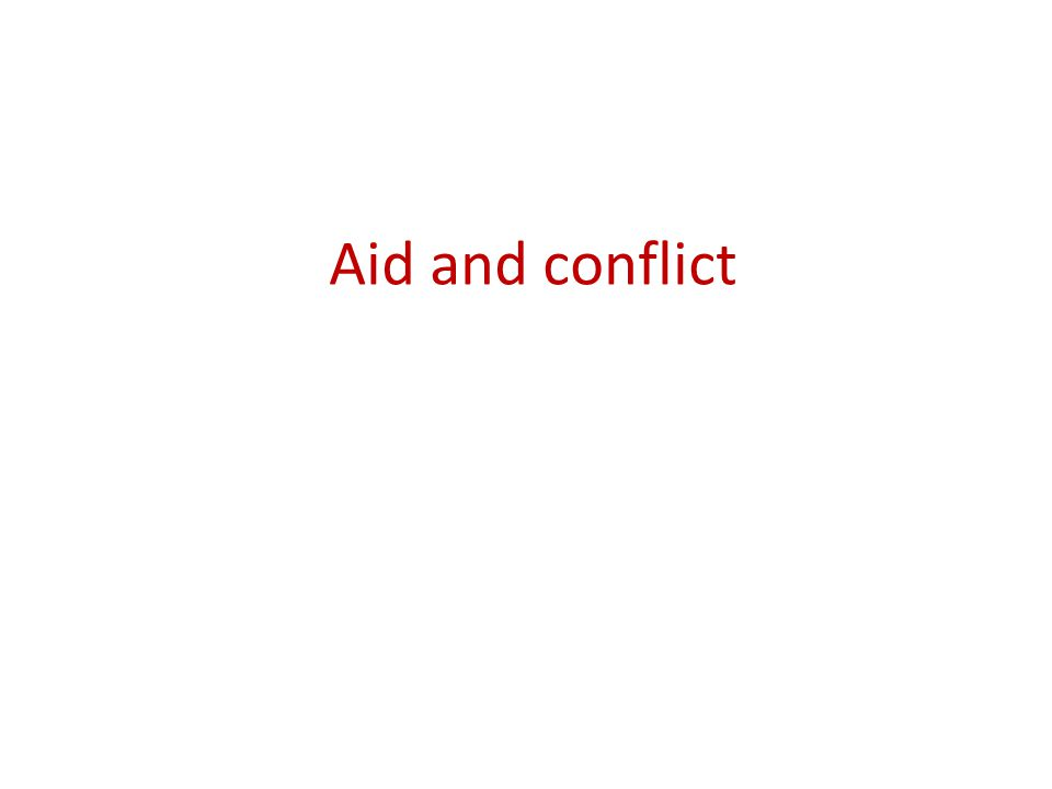 Aid and conflict