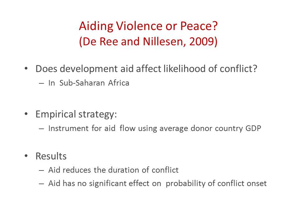 Aiding Violence or Peace.