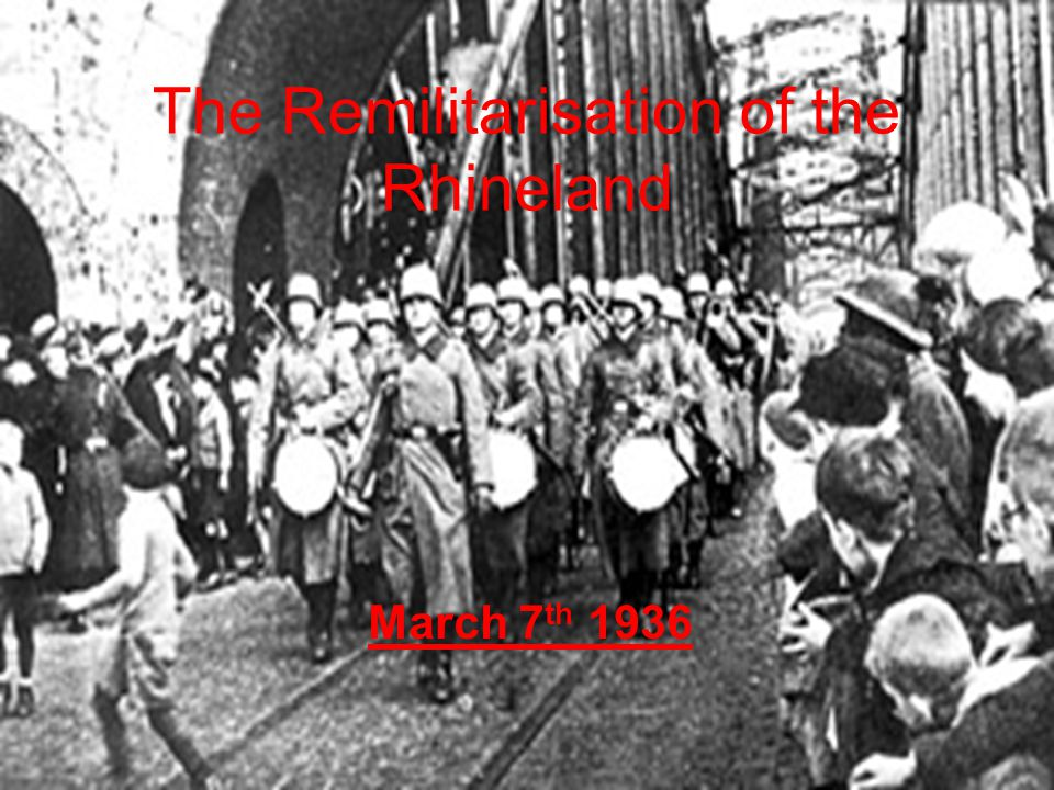  There was a strong pacifist movement in the1930's, many thought war was wasteful, costly and should be opposed (Frank McDonough)  The British Public didn't care two hoots about German troops occupying their own territory (Duff Cooper)  Germany was only putting troops into her own backyard (Lord Lothian)  Many in British Public also believed Germany had genuine grievances