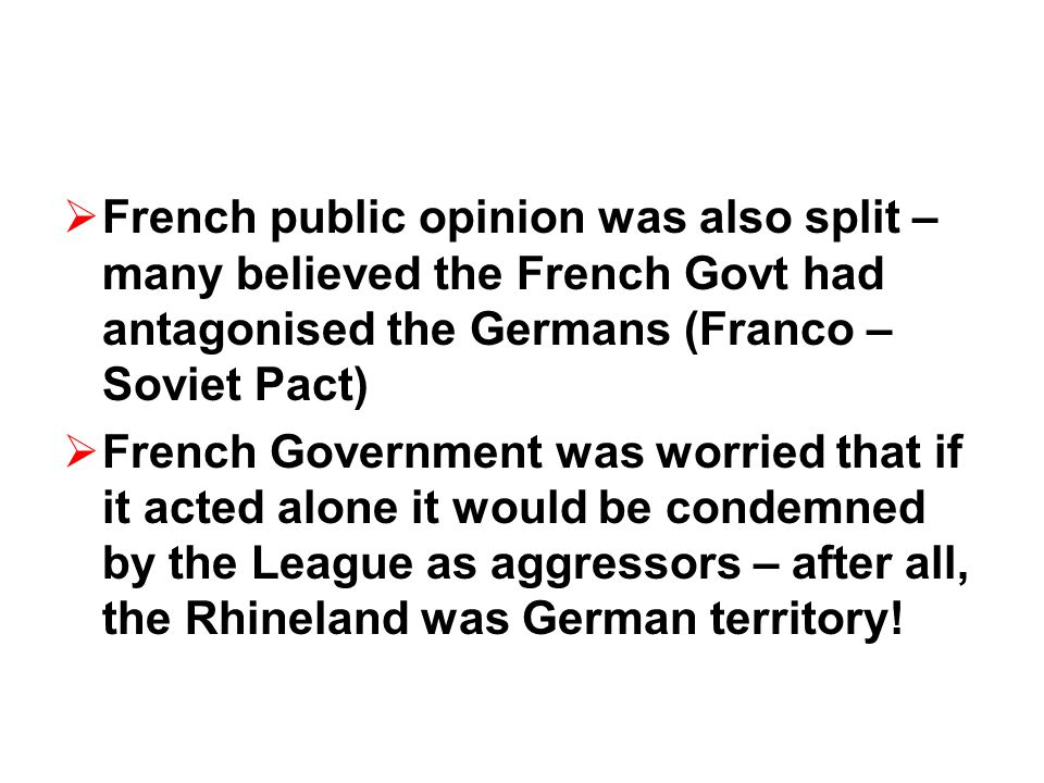 Notes: What you need to: 1.Background: What was the Rhineland, where was it.